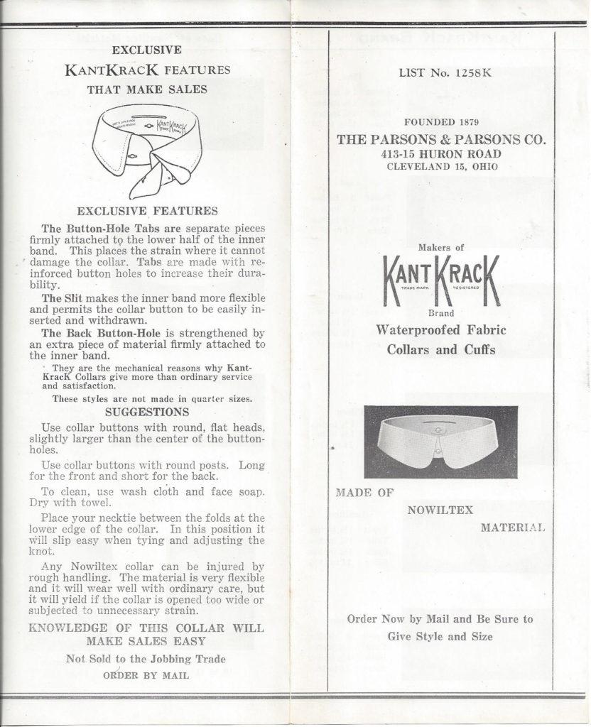 Kant Krack Collars Pamphlet pg 1