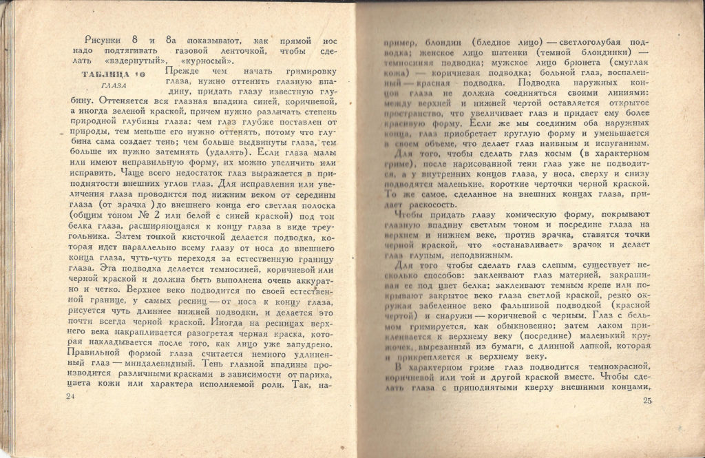A Practical Guide to Makeup,  by N.M. Novlyanisky, Moscow/Leningrad Izkustva (Art) Press, 1940